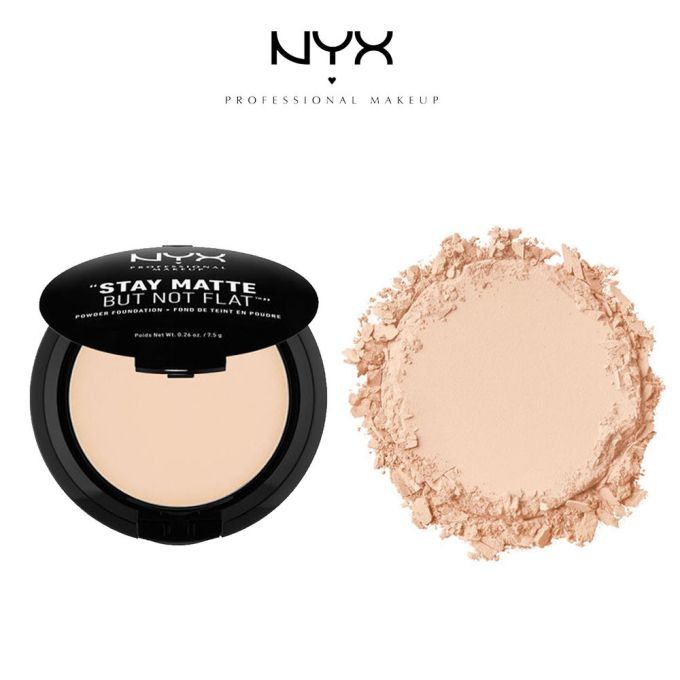 """c5d446ccbc9a8 NYX """"Stay Matte But Not Flat"""" Powder Foundation $11.99  http://www.nyxcosmetics.com"""